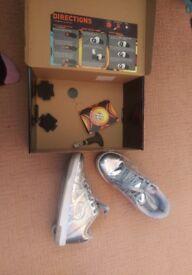Heelys - hardly worn - Silver chrome - size 5