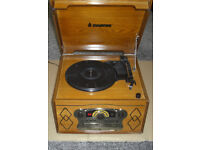 Steepletone Chichester III Speed Nostalgic Record Player with Radio CD & Cassette Player