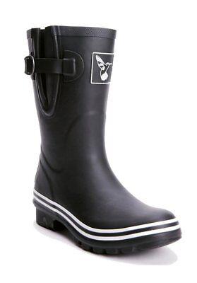 Plain Wellies (Evercreatures Plain Black Short Wellies Stiefel Gummistiefel Boots Schwarz)