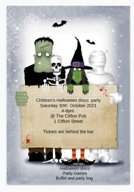 Children's Halloween Party at The Clifton, 1 Clifton Streer, cardiff