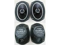 Vibe Slick 6x9 Heavy Duty Coaxial Speaker Set 140watt RMS 420watt PEAK Power VGC