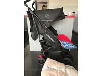 Maclaren Techno XT Pushchair Black Edition. With Footmuff & EXTRAS *ONLY 7 MONTHS OLD!*