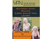 Saturday job , Part time hairdressing job , Leading to an NVQ apprenticeship position, Leicester