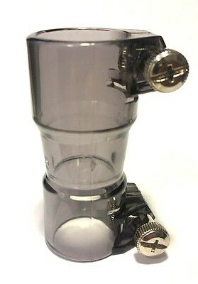 STRAIGHT PLASTIC VERTICAL PAINTBALL FEED NECK PORT by Extreme Page - Smoke
