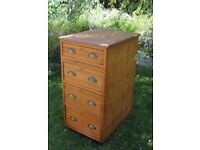 Antique pine chest of drawers, French