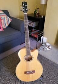 Epiphone 'El Capitan' 5-string electro-acoustic bass guitar: all maple, mint condition