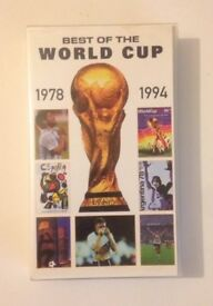 Best of the World Cup 1978 -1994 VHS Video Tape, FIFA Official in colour, running time 70 mins.