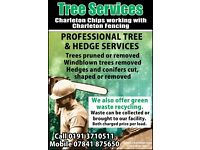 Charleton chips tree services and green waste recycling covering north east England