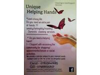 Unique Helping Hands Domestic cleaning & care/supportServices Do You need an extra pair of hands