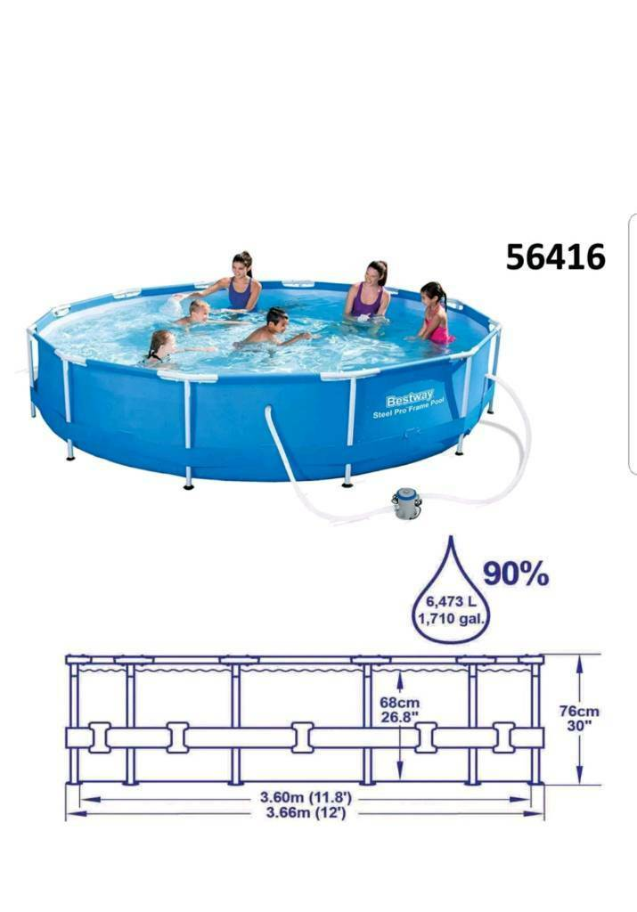 12ft swimming pool with filter brand new still seeled | in Abingdon ...