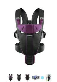 Babybjorn purple miracle baby carrier