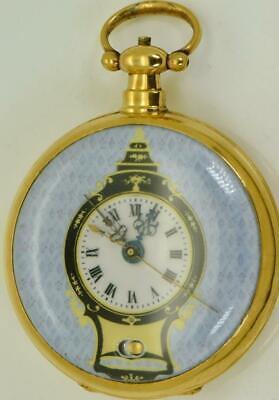 Qing dynastie chinois duplex simili pendule Émail bovet poche montre 怀表 c1850's