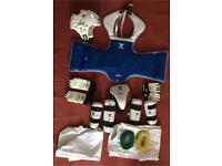 TAE-KWON-DO COMPLETE TRAINING KIT WITH COMPLETE PROTECTION PADS WITH SPORTS BAG