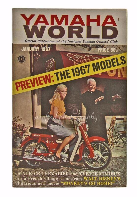 January 1967 Yamaha World Motorcycle Models Magazine Brochure Booklet