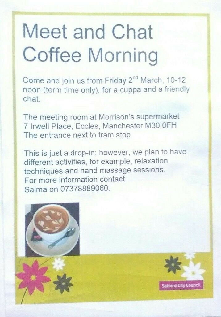 (Ladies) Meet and Chat Coffee Morning