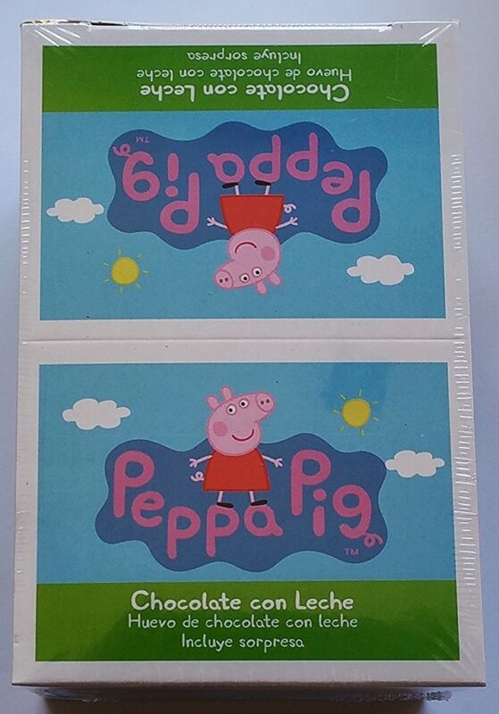 NEW Peppa Pig Chocolate Egg Toy Surprise Box of 6 Free Worldwide Shipping