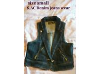Denim waistcoat, small by S.AC Denim jean wear £7.95