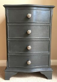 Period Style Bow Fronted Chest of Drawers