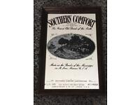 Vintage Retro 1930's Southern Comfort Advertising Mirror