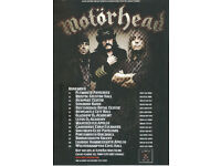 Motorhead Motörizer Official UK Tour Flyer 2009