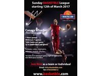 Sunday Basketball League starting 12th of March (Third Space-Canary Wharf)
