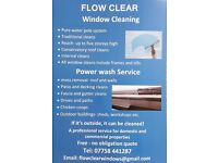 Flow clear window cleaning & power wash service