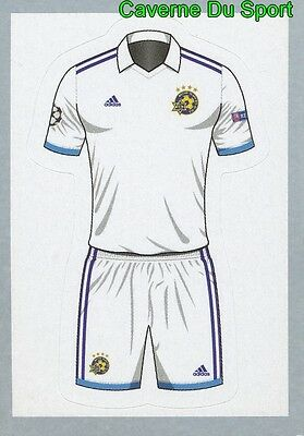 447 SHIRT AWAY KIT  MACCABI TEL-AVIV FC STICKER CHAMPIONS LEAGUE 2016 TOPPS image