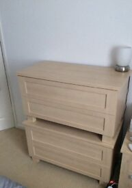 Chest of 2 drawers (quantity x 3) £25 each