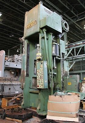 500 Ton Verson Straight Side Single Crank Press Model E-s1-500-sp Stock 5002