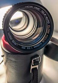 Hoya 135mm Prime Manual f/2.8 Portrait /Landscape Lens for Canon EF /Olympus Mount