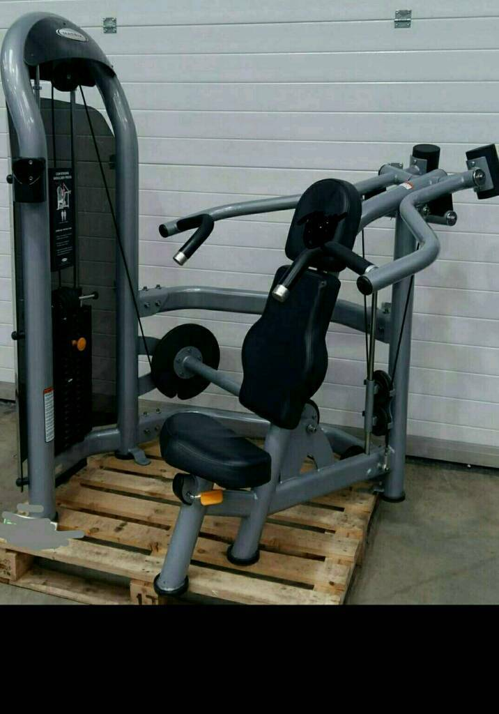 Matrix chest press and shoulder press * commercial weights dumbell bike treadmill