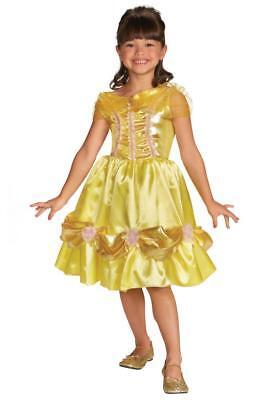 Kleine Mädchen 'Disney Belle Glitzer Klassisch Prinzessin Kostüm ()