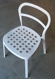 A SINGLE IKEA METAL CHAIR IN AS NEW CONDITION (REIDAR)
