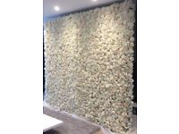 ARTIFICIAL FLOWER WALLS / BACK DROP / WALL OF CANDLES / ARCHES to hire / buy to order