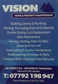 Building joinery fencing paving plastering pointing graffiti removal powerwashing