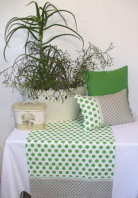 witziger Tischläufer Läufer Lola Punkte grün Polka Dots Proflax Landhaus Sommer ()