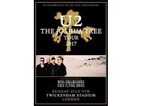 U2 standing tickets x 2