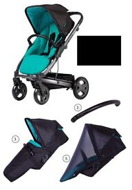X-lander: X-Cite stroller, footcover & raincover - New but some slight marks & without carton
