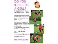 LOOKING FOR NEW PLAYERS FOR LADIES FOOTBALL TEAM
