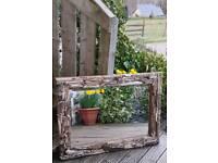 A Beautiful Handmade Driftwood Mirror