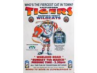 Castleford Tigers Rugby League Framed Posters