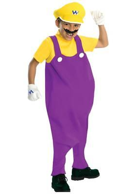 Boys Child Super Mario Brothers Deluxe Wario Inflatable Belly Bad Guy Costume