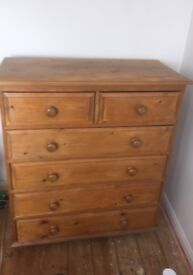 Pine Chest of Drawers For Sale.