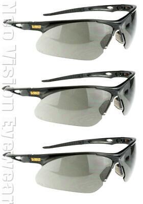 3 Pair Pack Dewalt Recip Smokegray Safety Glasses Shooting Sunglasses Z87