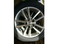 Toyota Auris alloy wheels 4x. Very good condition both rim and tyre. 205/55/R 16.