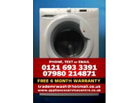 HOOVER VT816D22X WASHING MACHINE WITH FREE 6 MONTH WARRANTY