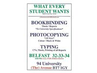 PRINTING SERVICES BELFAST