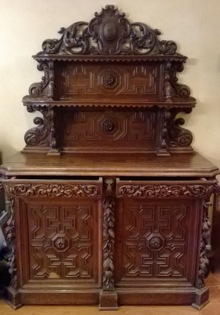 Antique 19th Century carved Walnut chiffonier in an immaculate condition-pick up NW3
