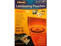 500 FELLOWES CAPTURE 125 65X95 LAMINATING POUCHES