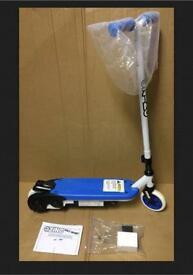 Zinc Volt Sport Push & Go Electric Easy Grip Scooter - Blue/White.